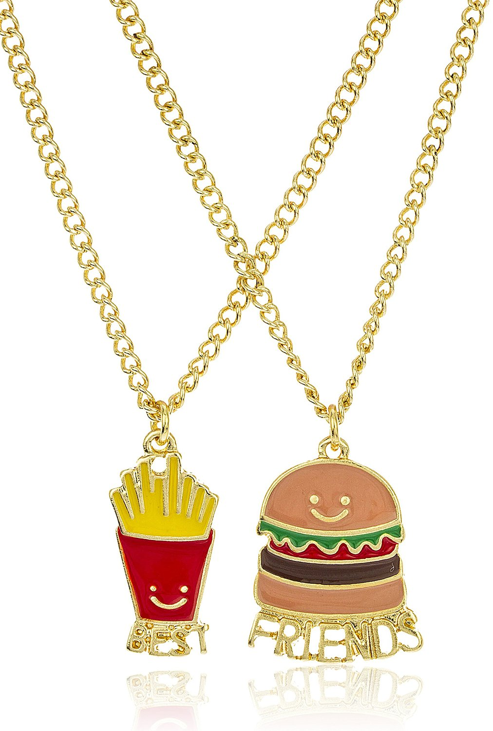 burger and fries best friend necklaces for foodies