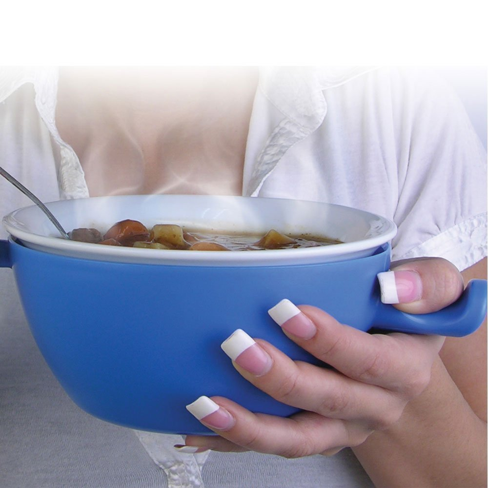 Hot Bowl, Cool Hands: Microwave Bowl with Lid and Handle
