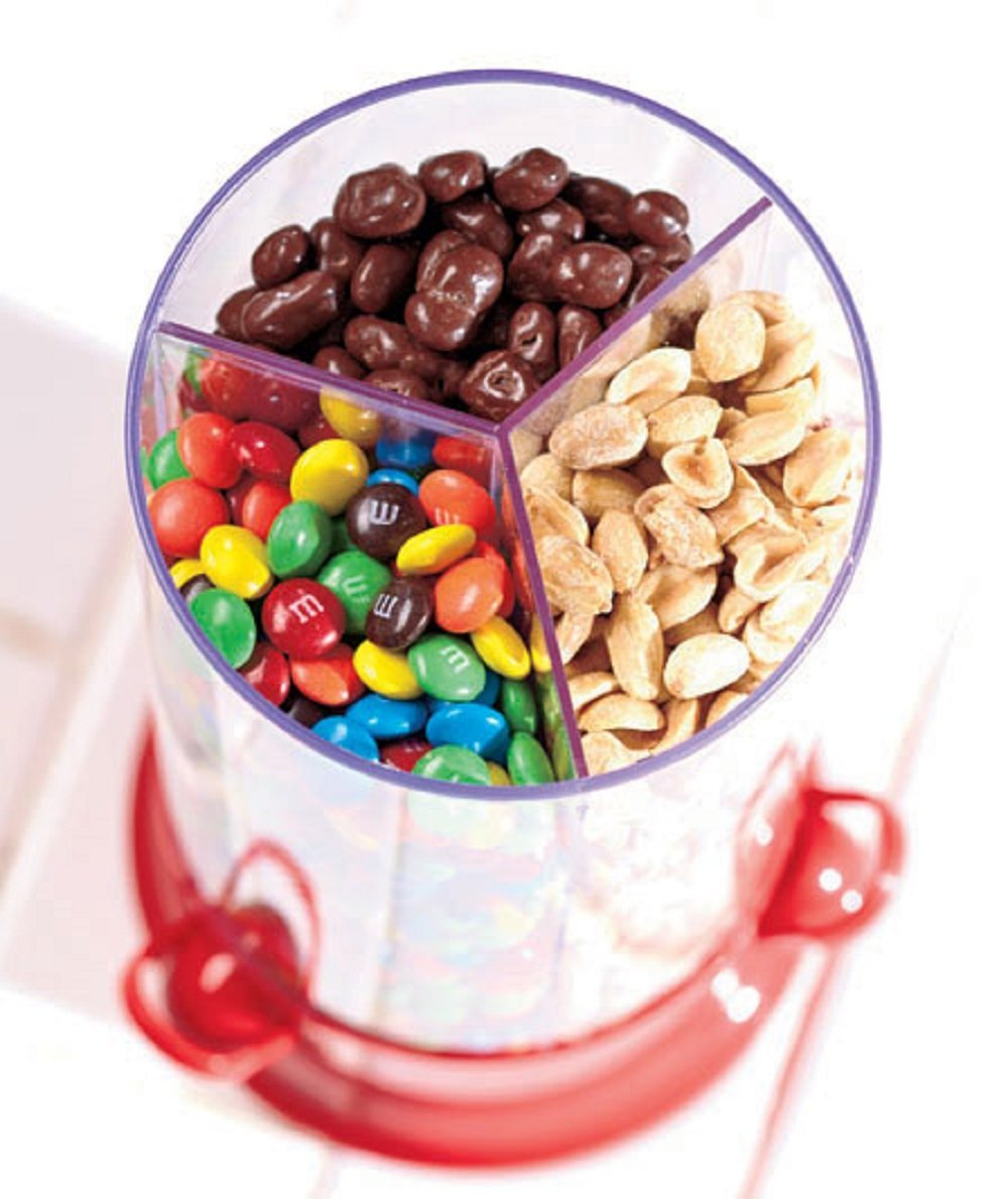 Three Compartment Snack Dispenser for More Variety
