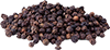 20  black peppercorns