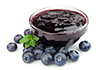 0.5 cups blueberry jelly