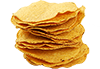 6 small corn tortillas