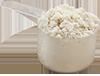 0.5 scoop vanilla protein powder