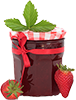0.25 cups strawberry preserves
