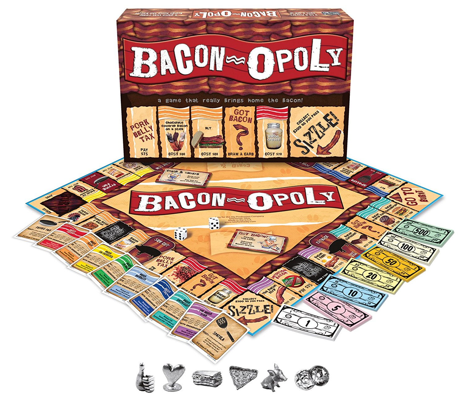 Bacon monopoly for 2-6 bacon lovers