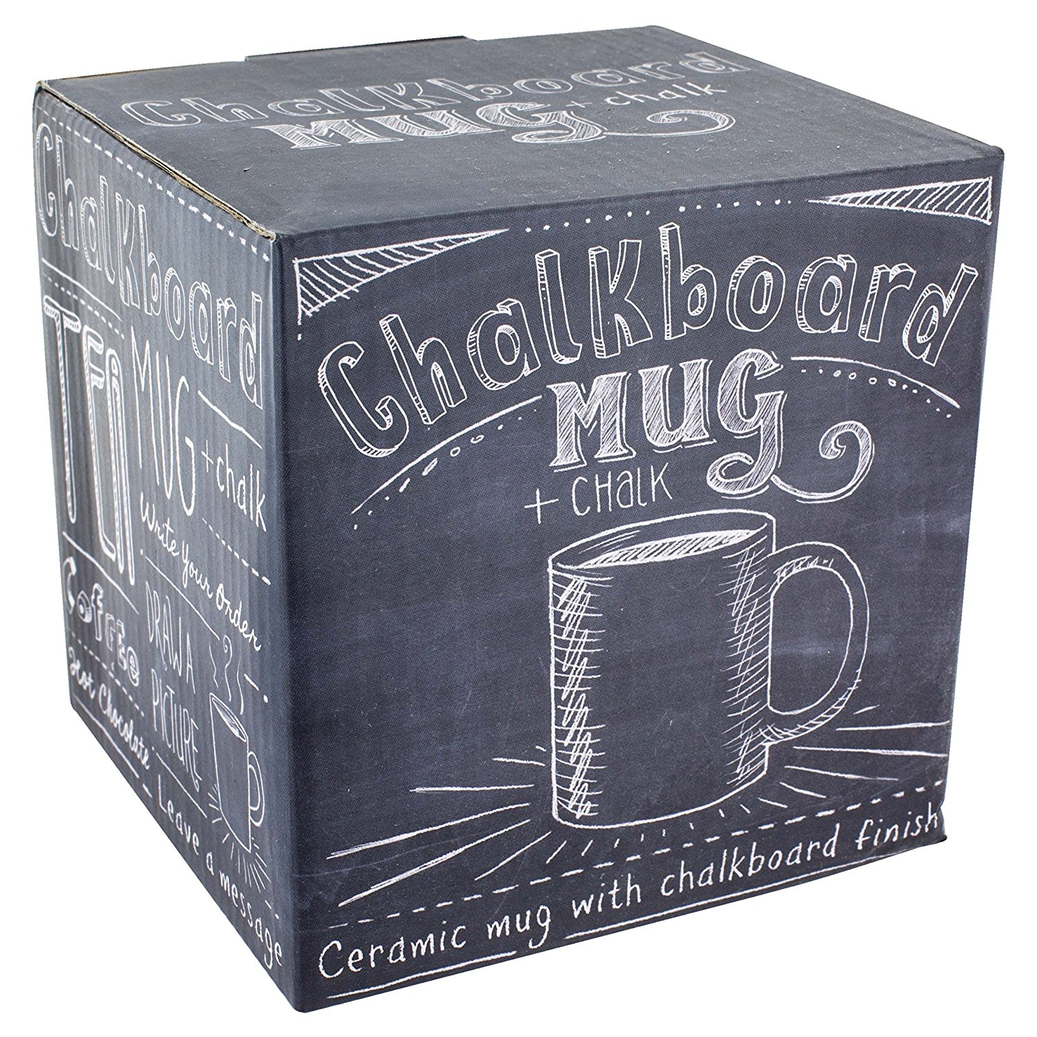 This chalkboard coffee mug makes a great gift, especially for your colleagues