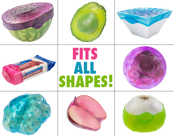 Cover blubber fits all shapes of food and containers