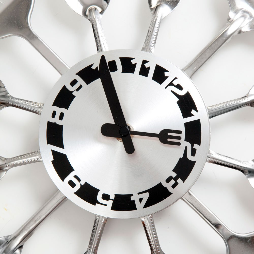 Kitchen Utensil Clock for Answering \