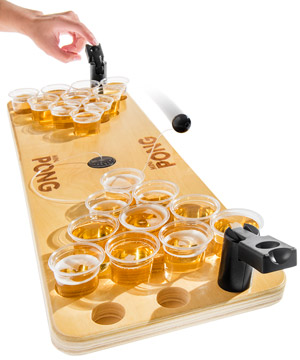All the fun of regular beer pong in a fraction of the space  sc 1 st  Spoonacular & Partying in Small Spaces? You Need This Mini Beer Pong Table