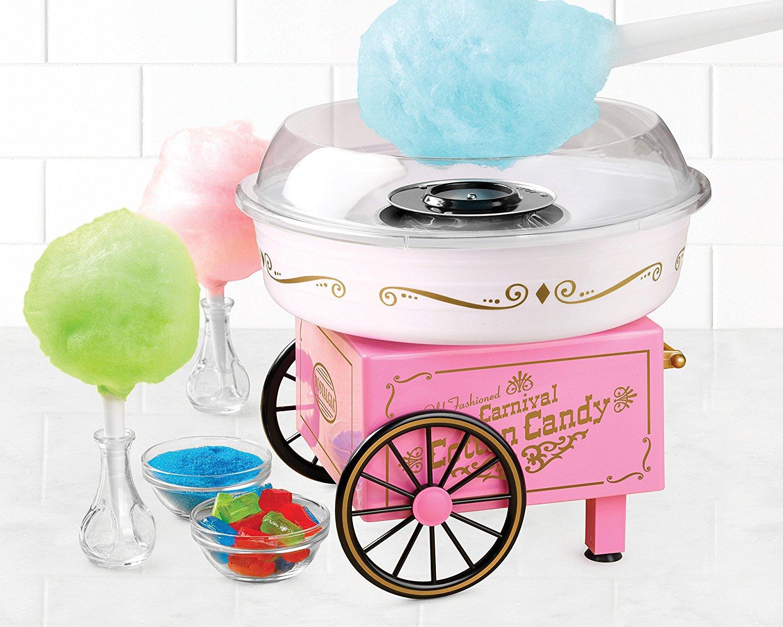 Mini cotton candy machine in cute old-fashioned design