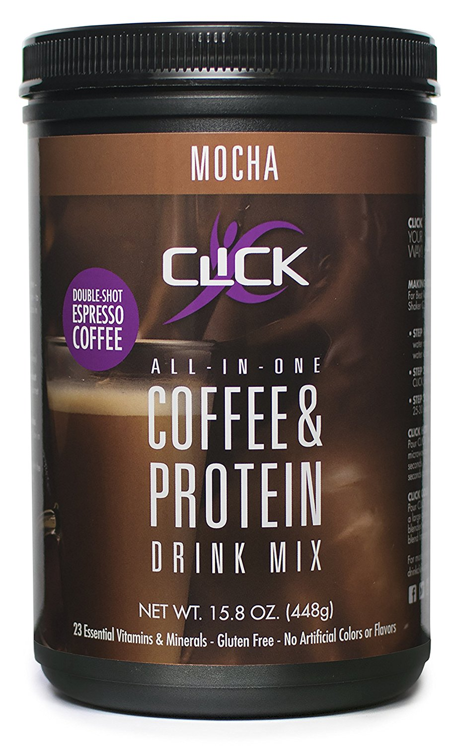 Protein powder made with real espresso coffee