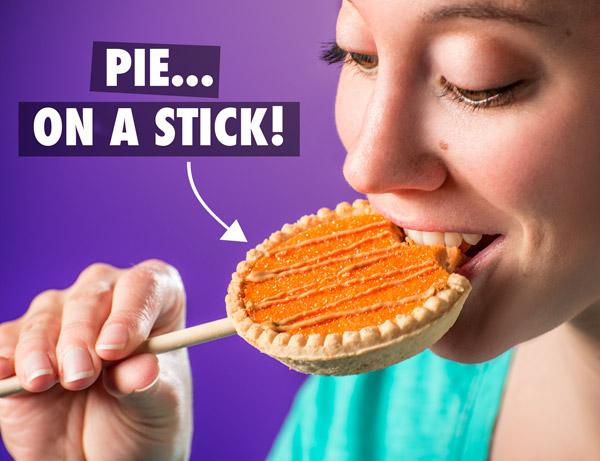 Pie on a stick