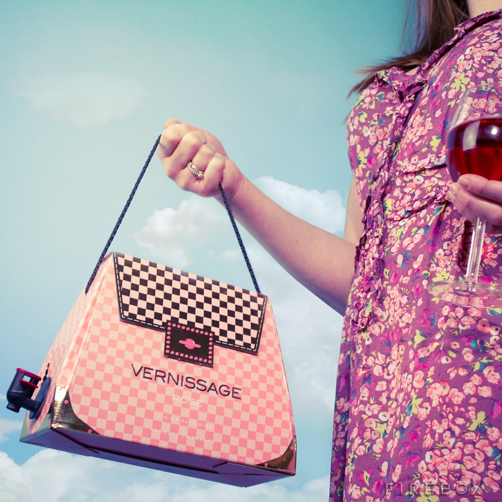 Pretty in pink with the rosé box wine purse