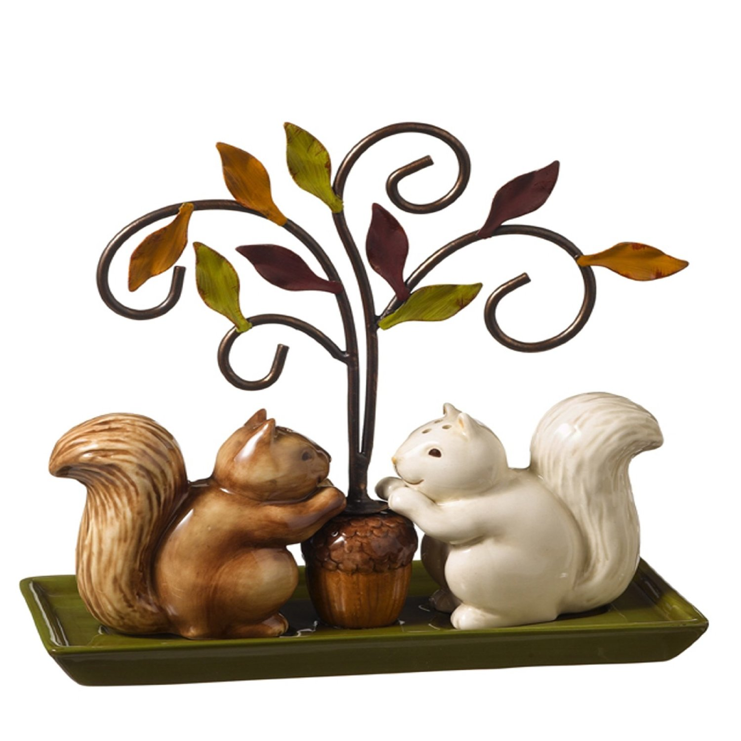 Sweet And Sophisticated Squirrel Salt And Pepper Shaker Set