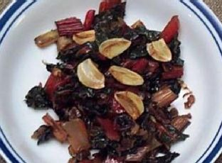 Sauteed Swiss Chard with Red Onions Image