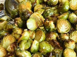 Brussels Sprouts Roasted with Garlic Butter Image