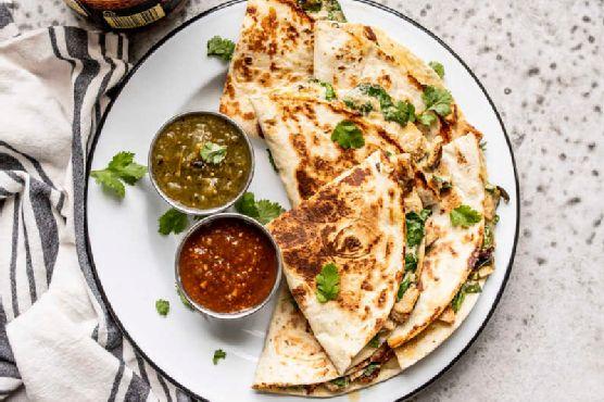 Creamy Chicken and Spinach Quesadillas