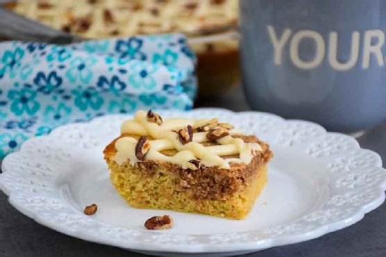 Pecan Coffee Cake with Cinnamon Swirl – Keto