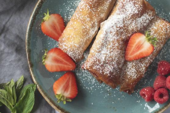 ActiFry Red Berry and Peppermint Spring Rolls