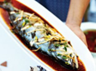 Steamed Fish with Scallions and Ginger Image