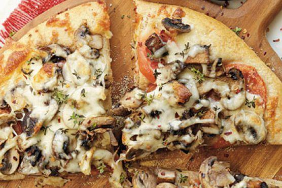 Double-Mushroom Pizza