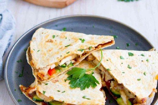 Hoisin Chicken Quesadillas with Veggies