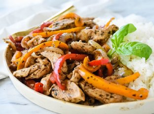 Balsamic Chicken and Peppers