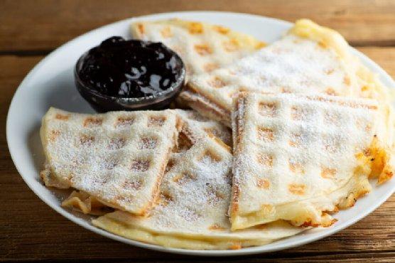 Waffle Iron Croque Monsieur Quesadillas