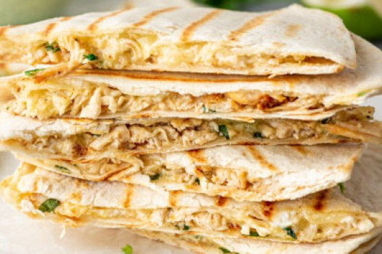 Quick and Easy Leftover Chicken Quesadillas
