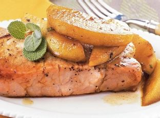 Pork Chops with Apples and Sage Image