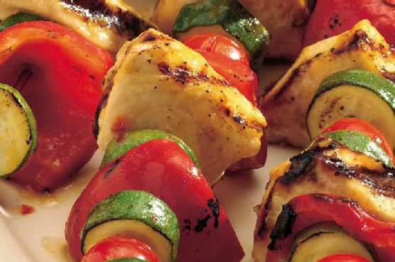 Sweet and Sour Grilled Swordfish Kabobs