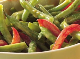 Green Beans and Red Peppers Image