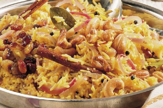 Basmati Rice with Saffron (Zaffrani Pulao)
