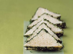 Parsley and Sweet Onion Sandwiches Image