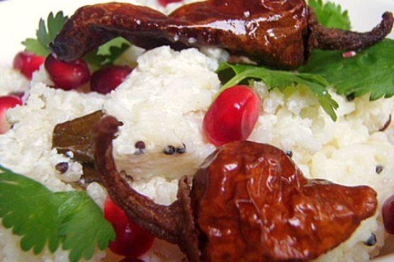 Curd Rice (Indian Rice with Yogurt)