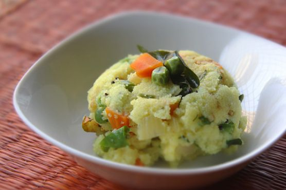 Sooji Upma (Indian Semolina Breakfast Dish)