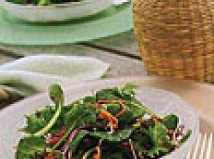 Farmers Market Green Salad with Fried Shallots Image