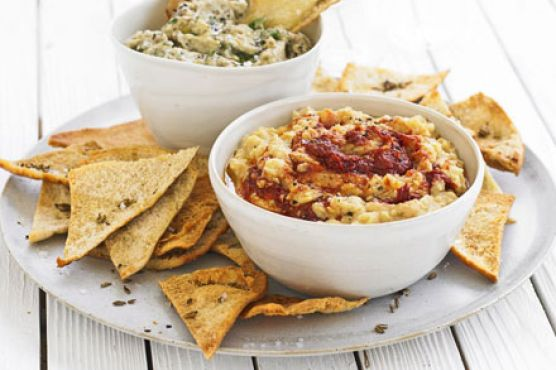 Smoky aubergine & coriander dip | Food Stuff