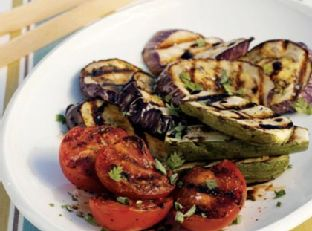 Grilled Eggplant, Tomatoes, and Zucchini Image