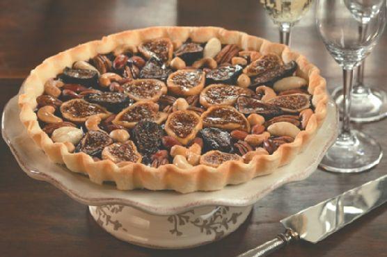 Glazed Fig Tart with Dairy-Free Chocolate Ganache