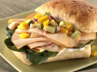 Mango Salsa-Chicken Sandwich