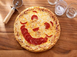 Happy Face Pizza