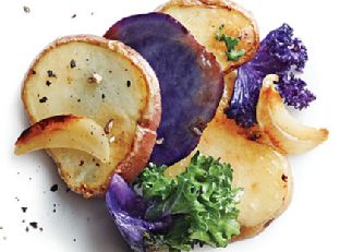 Baby Potatoes with Kale and Garlic Image