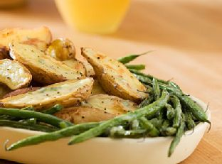 Roasted Fingerlings and Green Beans With Creamy Tarragon Dressing Image