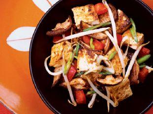 Glazed Tofu-Mushroom Salad