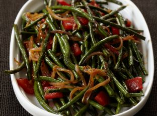 Chinese Long Beans with Cracked Black Pepper Image
