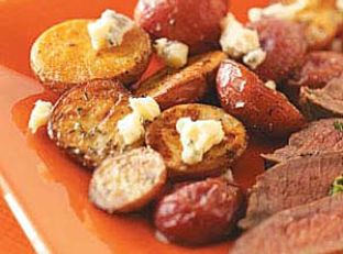 Roasted Potatoes with Thyme and Gorgonzola Image