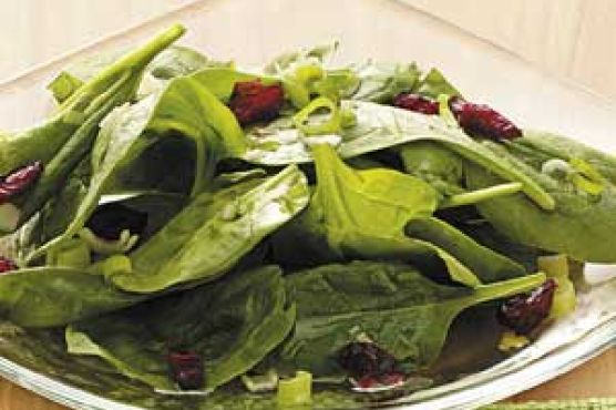 Sweet-Sour Spinach Salad