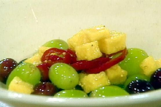 Pickled Grapes with Jicama and Celery Seed