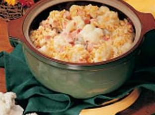 Cauliflower and Ham Casserole
